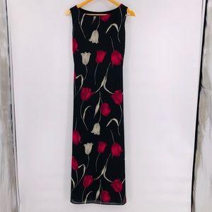 Hilliard & Hanson Sleeveless Floral Dress
